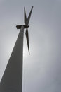Single wind turbine from below Royalty Free Stock Photo