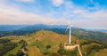Single wind turbine. Royalty Free Stock Photo