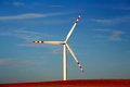 Single windmill at dusk Royalty Free Stock Photo
