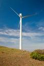 Single windmill Royalty Free Stock Photo