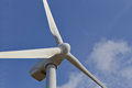 Single windmill for renewable electric energy production Royalty Free Stock Photo