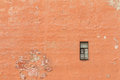Single window on facade Royalty Free Stock Photo