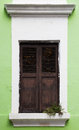 A single window of old san juan in puerto rico Royalty Free Stock Photography