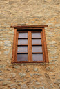 Single Wood Framed Window Royalty Free Stock Photo