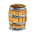 Single wooden barrel Royalty Free Stock Images