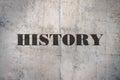 Single word History