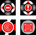 Sings set of abstract graphic signs and elements Royalty Free Stock Images