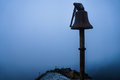 Sinister bell a in a foggy day Royalty Free Stock Photos