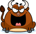Sinister little bull a cartoon illustration of a looking Stock Photography