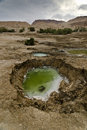 Sink holes in the desert Royalty Free Stock Photo