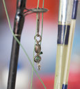 Sinker on the fishing rod Royalty Free Stock Photo