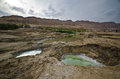 Sinkholes in the desert Royalty Free Stock Photography