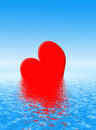 Sinking heart Royalty Free Stock Photography