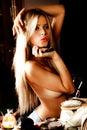 Sinnliches blondes Stockbilder