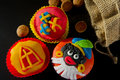 Sinterklaas cup cakes Stock Photo