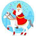 Sinterklaas on his horse