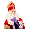Sinterklaas with pointing finger Royalty Free Stock Photo