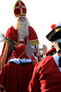 Sinterklaas and retinue Royalty Free Stock Photos