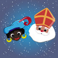 Sinterklaas and zwarte piet image of of the dutch traditional celebration of Royalty Free Stock Images