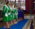 Sintez(Kazan) team of waterpolo Royalty Free Stock Photo