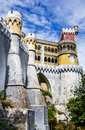 Sintra portugal palacio de pina is the oldest palace inspired by european romanticism built by portuguese kings Stock Photo