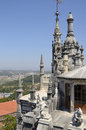 Sintra seen from the top of quinta da regaleira is an estate located near historic center portugal Stock Image