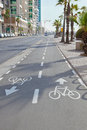 sinuous bicycle path Royalty Free Stock Photo