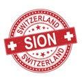 Sion Switzerland Rubber Stamp ...