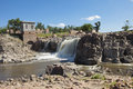 Sioux falls south dakota along the big river in Stock Photos