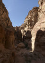Siq canyon. Stock Photo