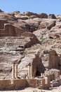 Siq canyon ancient city petra hidden of jordan Stock Images
