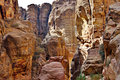 The Siq Road canyon, Petra, Jordan. Royalty Free Stock Image