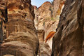 The Siq Road canyon, Petra, Jordan. Royalty Free Stock Photos