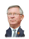 Sir alex ferguson caricature editorial use Stock Photo