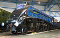 Sir nigel gresley at york railway museum as part of the great gathering of pacific s Stock Photo