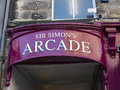 The Sir Simons Arcade in Lancaster England in the Centre of the City Royalty Free Stock Photo