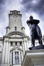 Sir Stamford Raffles at Victoria Theater,Singapore Royalty Free Stock Photo