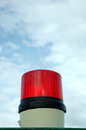 Siren lights a red with blue sky background Royalty Free Stock Photography