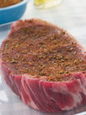 Sirloin Steak with Cajun Spice Rub Royalty Free Stock Photos