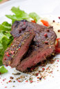Sirloin strip steak with boiled potato Royalty Free Stock Photo