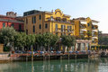 Sirmione lake garda italy october hotel sirmione at lake on unidentified people Stock Photo