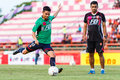 Sisaket thailand august narubodin weerawatnodom of bec tero sasana fc in action during a training ahead thai premier league Stock Photography