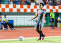 Sisaket thailand june noppol pitafai of bangkok utd in action during thai premier league between fc and at sri Royalty Free Stock Images
