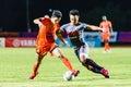 Sisaket thailand june sarayuth chaikamdee of sisaket fc orange in action during thai premier league between and bangkok Stock Image