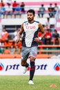 Sisaket thailand june sompong soleb of bangkok utd in action during a training ahead thai premier league between fc and Royalty Free Stock Images