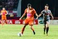 Sisaket thailand june victor amaro of sisaket fc orange in action during thai premier league between and bangkok utd at Royalty Free Stock Image