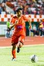 Sisaket thailand june victor amaro of sisaket fc orange in action during thai premier league between and bangkok utd at Stock Image