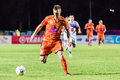 Sisaket thailand october brent mcgrath of sisaket fc in action during thai premier league between and air force central Stock Images