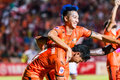 Sisaket thailand october watsapol thosantia of sisaket fc in action during thai premier league between and air force Stock Photography