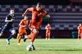 Sisaket thailand september david bala of sisaket fc in action during friendly match between and roi et utd at sri Stock Photos